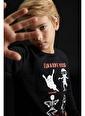 DeFacto Erkek Çocuk Hayalet Baskılı Sweatshirt Siyah